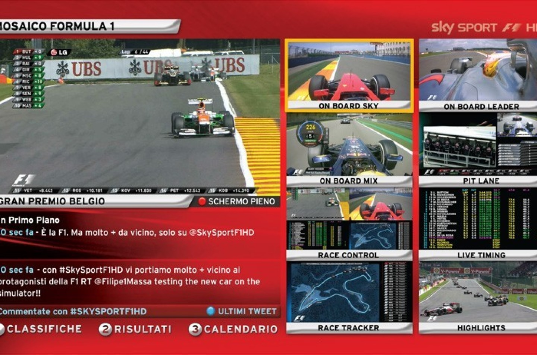 Sky, missione conquista della F1..e del pubblico.