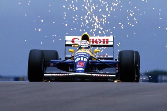 Il famoso 5 rosso, simbolo di Nigel Mansell