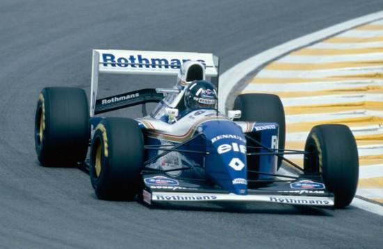 Lo Zero, qui a forma di stemma Renault, sulla Williams di Damon