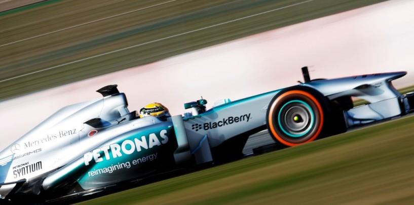 Barcellona, test day 4: Pioggia protagonista, miglior tempo per Hamilton