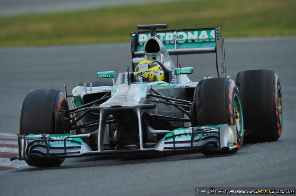 Barcellona, test day 1: Rosberg davanti a Raikkonen
