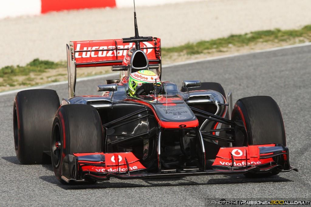 Barcellona, test day 2: Perez al comando