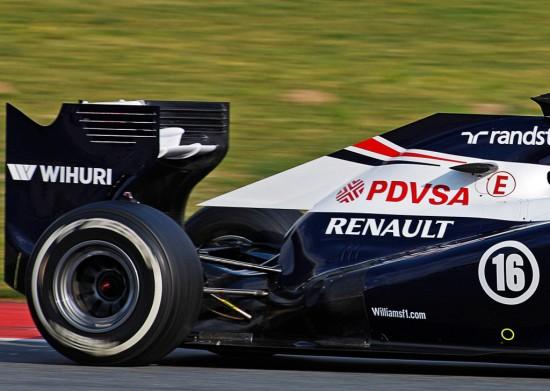 il dettaglio del posteriore super-miniaturizzato della nuova Williams FW35