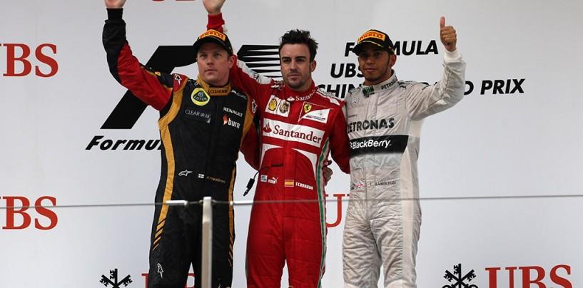Pagelle del Gran Premio della Cina 2013