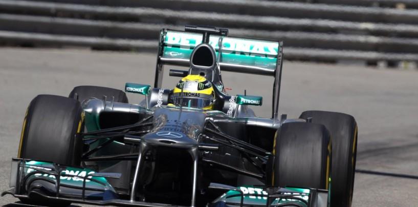Montecarlo, libere 3. Rosberg vola tra botti e dritti