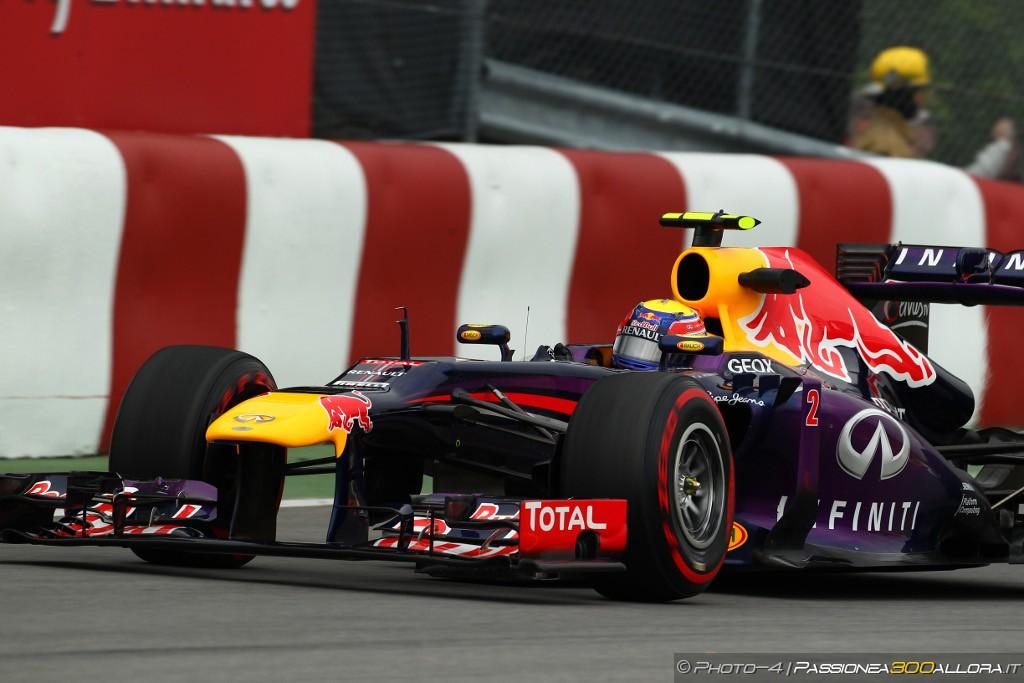 Libere 3 a Montreal: mezz'ora in meno e miglior tempo per Webber