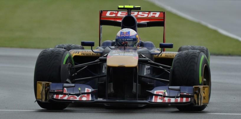 Libere 1 a Silverstone: domina la pioggia su Ricciardo e il resto del gruppo