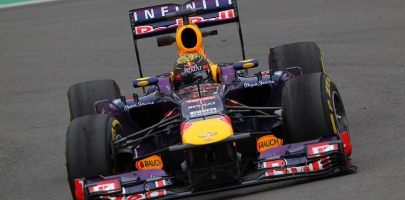 Sebastian Vettel vince il GP di Germania 2013 davanti a Raikkonen e Grosjean