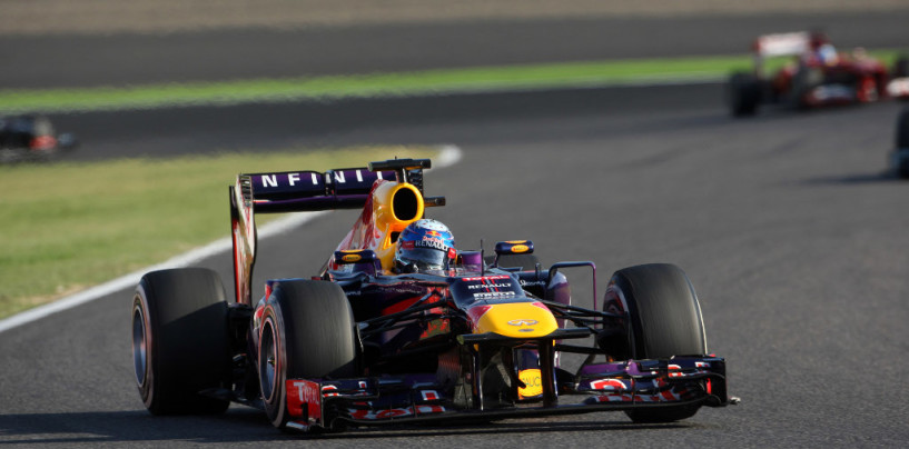 Sebastian Vettel vince il Gp del Giappone 2013 davanti a Webber e Grosjean