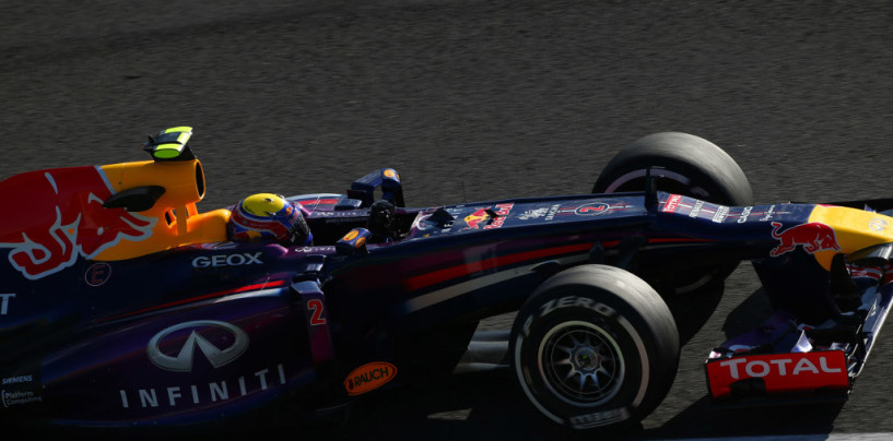 Mark Webber in Pole Position nel Gp del Giappone 2013