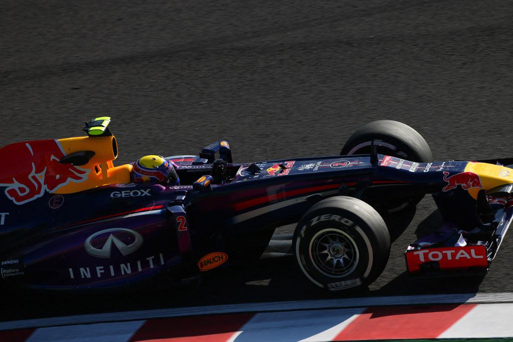 Mark Webber in Pole Position nel Gp del Giappone 2013