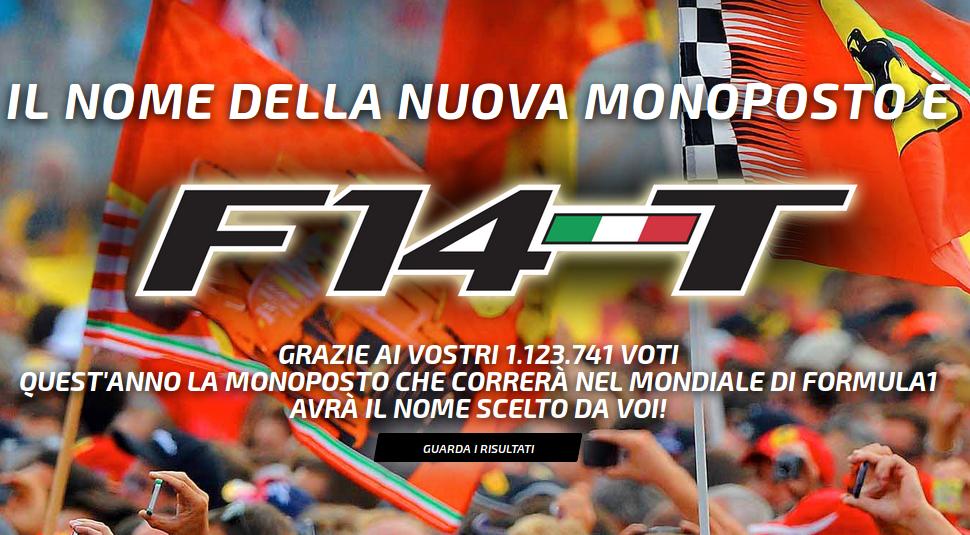 E' F14T il nome della nuova Ferrari di F1 per il 2014