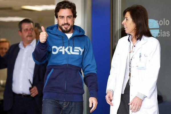 Alonso dimesso dall'ospedale, torna ad Oviedo