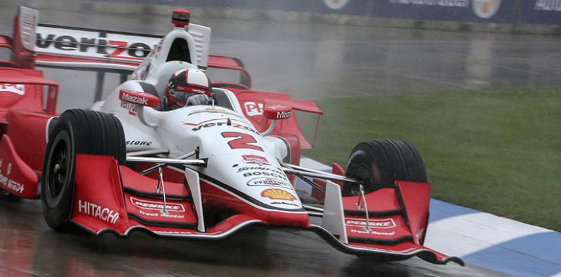Indycar 2015, Qualifiche cancellate, Montoya in pole per gara-2