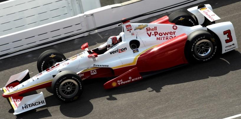 Indy 500 2015, Castroneves prima della pioggia