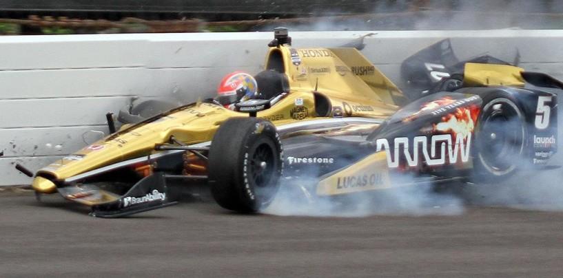 Indy 500 2015, emergono i primi dettagli sull'incidente di Hinchcliffe