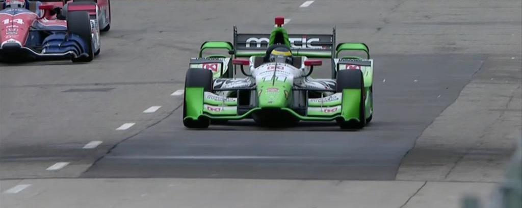 Indycar 2015, caos e incidenti a Detroit, Bourdais fa sua gara-2