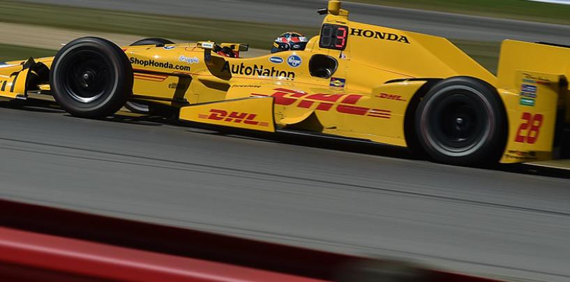 Indycar 2015, Hunter-Reay il più veloce nel warm up di Mid-Ohio