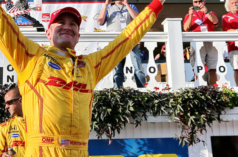 Indycar, Hunter-Reay vince a Pocono, Montoya allunga in classifica