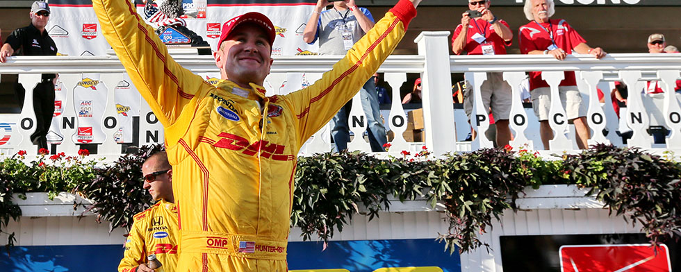 Indycar, Hunter-Reay vince a Pocono, Montoya allunga in classifica