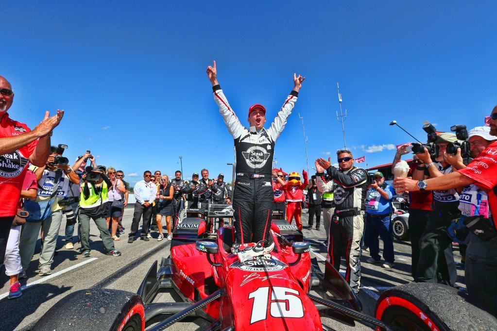 Indycar 2015, Rahal trionfa a Mid-Ohio e si fa sotto a Montoya