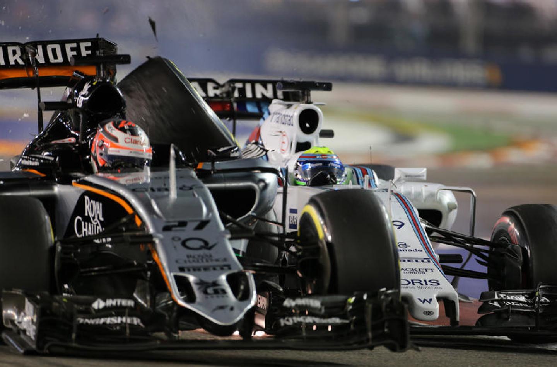 Hulkenberg si scusa per l'incidente con Massa a Singapore