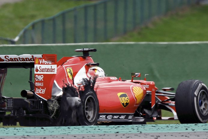 Pirelli: le cause dell'incidente di Vettel verranno chiarite a Monza
