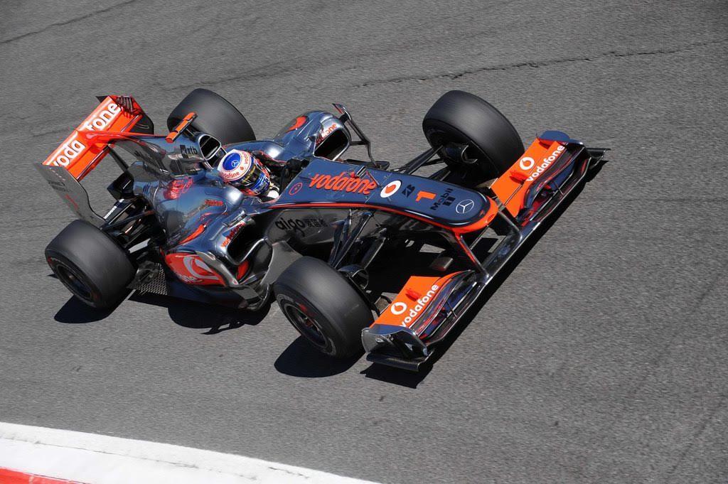 La qualifica di Button a Monza 2010