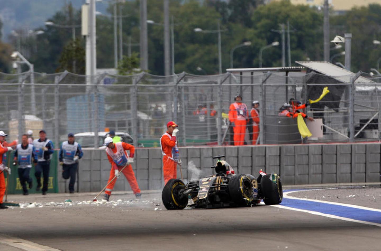 F1 | Il sedile di Grosjean rotto nell'incidente di Sochi