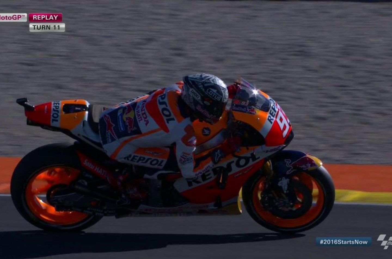 MotoGP | Márquez al comando (con caduta) nei test di Valencia