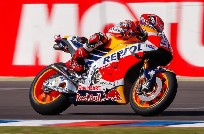 MotoGP | Argentina, FP3: Marquez in testa, Rossi passa per un pelo