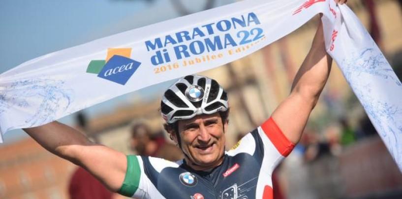 Inarrestabile Alex Zanardi: vince la Maratona di Roma per la quinta volta!