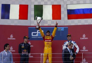 GP2   Baku: Giovinazzi colpisce ancora, Matsushita semina il panico