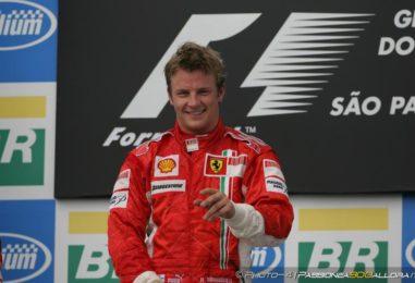 21 ottobre 2007: la prima di Kimi, l'ultima della Ferrari