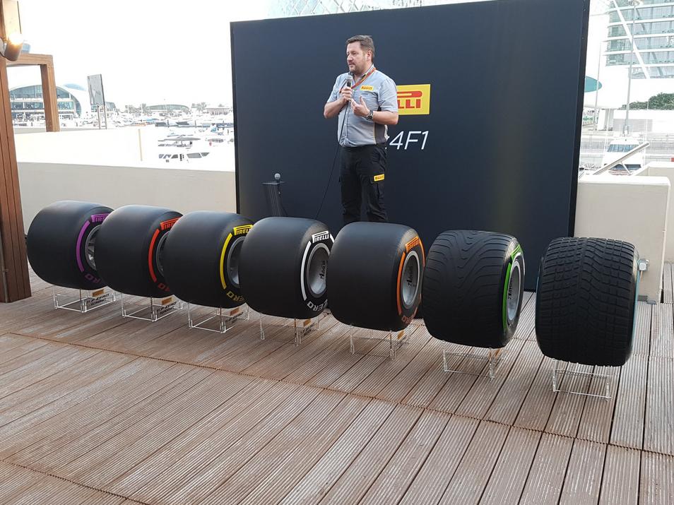F1 | Pirelli ha presentato ad Abu Dhabi le gomme 2017