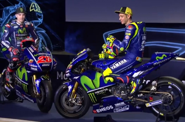 MotoGP   Presentata la nuova Yamaha M1 di Rossi e Viñales