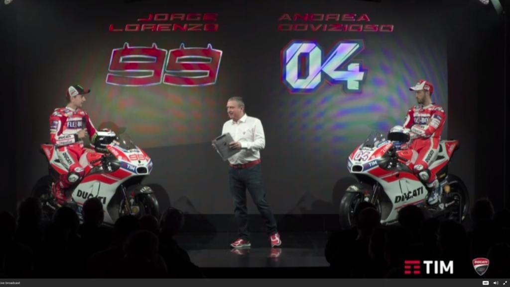 MotoGP   Ducati ha presentato la Desmosedici 2017