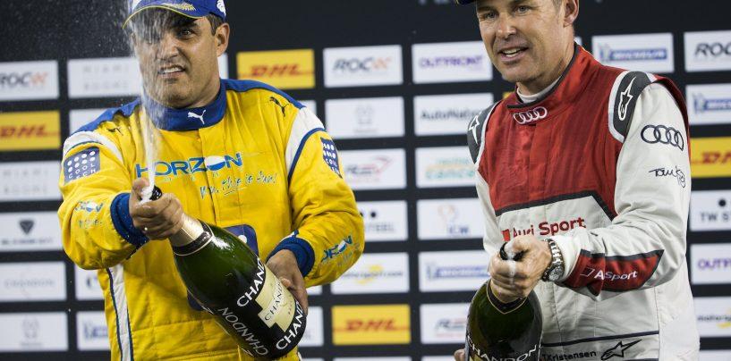"""<span class=""""entry-title-primary"""">Race Of Champions: Montoya e Germania campioni</span> <span class=""""entry-subtitle"""">Il consueto show ha premiato il colombiano e, ancora una volta, il team tedesco con il solo Vettel</span>"""