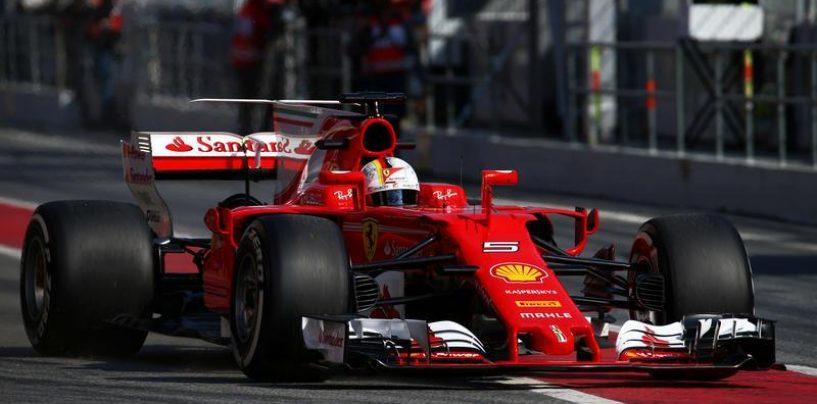 """<span class=""""entry-title-primary"""">F1   Test day 1: Vettel in testa al mattino</span> <span class=""""entry-subtitle"""">Il ferrarista in testa nella prima mezza giornata di test 2017</span>"""