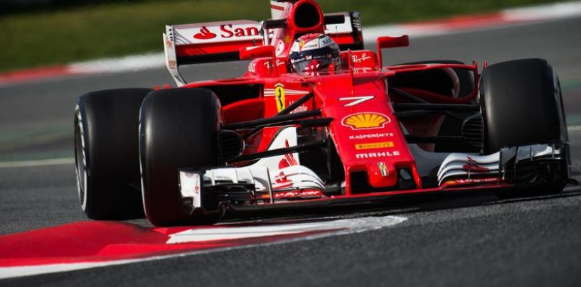 """<span class=""""entry-title-primary"""">F1   Test day 2: Räikkönen di pochi millesimi su Hamilton</span> <span class=""""entry-subtitle"""">Ferrari al comando nel secondo giorno, Bottas lavora sul passo gara</span>"""