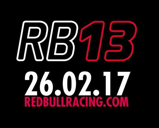 F1 | Red Bull presenterà la RB13 il 26 febbraio