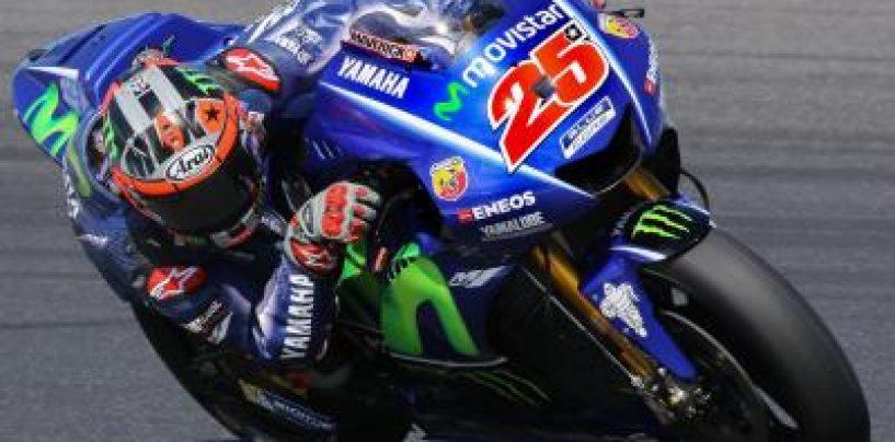 """<span class=""""entry-title-primary"""">MotoGP   GP Francia, Viñales in pole, prima fila Yamaha con Rossi e Zarco</span> <span class=""""entry-subtitle"""">Male Pedrosa e Lorenzo, 13° e 16°</span>"""