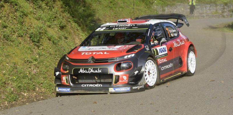 """<span class=""""entry-title-primary"""">WRC   Corsica: partenza sprint per Meeke, Ogier e Neuville inseguono</span> <span class=""""entry-subtitle"""">Il nordirlandese della Citroën comanda dopo due prove, rifilando buoni distacchi</span>"""