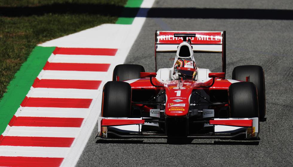 F2   Pole position per Charles Leclerc a Barcellona