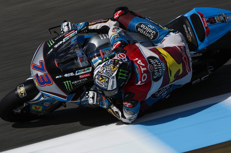 Moto2 | GP Spagna, Alex Marquez domina su Bagnaia e Oliveira. Fuori Morbidelli