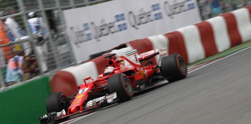 """<span class=""""entry-title-primary"""">F1   GP Canada, FP3: Ferrari ancora al comando con Sebastian Vettel e Kimi Raikkonen</span> <span class=""""entry-subtitle"""">Le due Ferrari sono le più veloci nell'ultima sessione di libere, Hamilton è terzo</span>"""