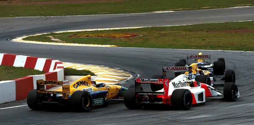 """<span class=""""entry-title-primary"""">""""Brake test?"""", quando Schumi fraintese Senna</span> <span class=""""entry-subtitle"""">il brasiliano deluso gli rimproverò l'errore a Magny Cours '92</span>"""