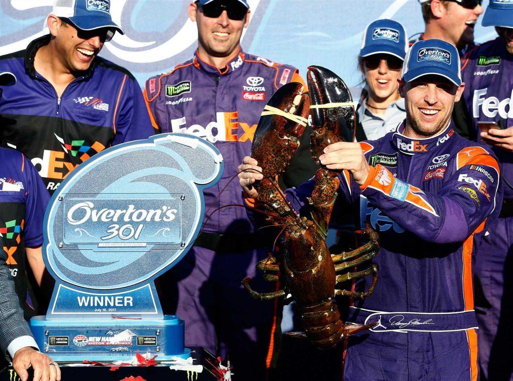 NASCAR   Denny Hamlin vince in New Hampshire