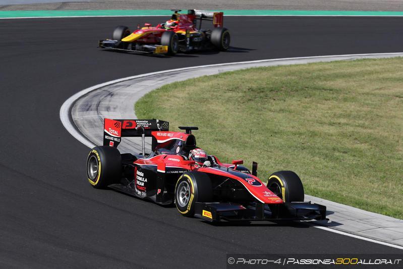 F2   Ungheria: Matsushita vince la sprint race davanti a Rowland