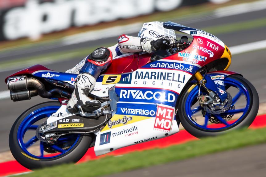 Moto3   GP Gran Bretagna: pole position italiana con Fenati